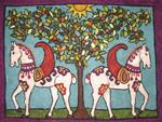 Tapestry Needlefelt Kit - Byzantine Horses