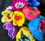 Learn To Wet Felt a Bouquet of Flowers