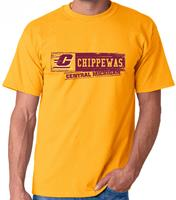 Central Michigan Stamp Adult Tee