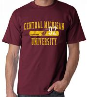 Central Michigan Distressed Adult Tee