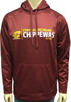 Central Michigan Polyester Hooded Pullover