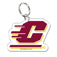 Central Michigan Acrylic Key Ring