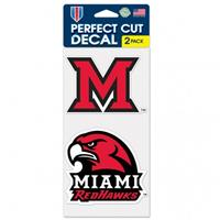 MIAMI OF OHIO UNIVERSITY PERFECT CUT DECAL - 2 PACK