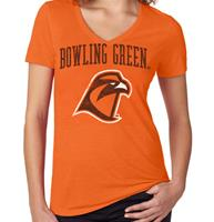Bowling Green Jumbo Bleach Women's V-Neck Tee