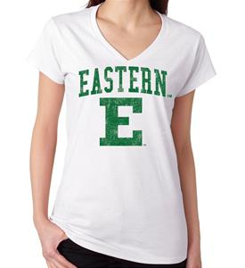 Eastern Michigan Mascot Women's V-Neck Tee