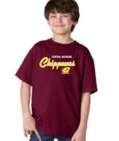 Central Michigan Machine Script Youth Tee