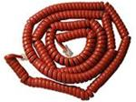 Handset Coiled Cord Modular 25 Ft. Cherry Red