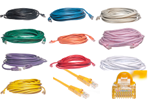 100 FT Cat5e Ethernet Patch Cable - Standard Boot - XX=Color