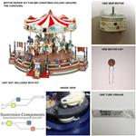"(1.2""Mr Christmas Holiday Around The Carousel"" - REPLACEMENT PART- MOTOR KIT"
