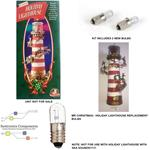 (1.2)MR CHRISTMAS HOLIDAY LIGHTHOUSE REPLACEMENT PART-2 BULBS