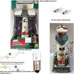 (1.2)MR CHRISTMAS HOLIDAY LIGHTHOUSE GRAY HARBOR WA- REPLACEMENT PART-2 BULBS