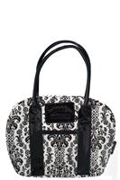 Damask Black White Mini Bowler