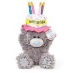 "Me To You 7"",Tatty Teddy BIRTHDAY CAKE HAT Plush"