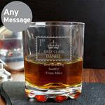 Personalised 1st Class Whisky Glass