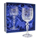 Pair of Crystal Wine Glasses ~ Personalised Gift
