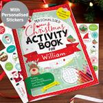 Kids Christmas Activity Book with Stickers ~ Personalised Gift