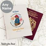 Personalised Passport Holder Paddington Bear Cream