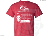 Baby Chicken Design Heavy Cotton Tee- Red