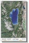 2. Satellite Relief Map of Lake Tahoe