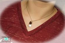 29:11 BURGUNDY DRUZY BAR NECKLACE
