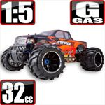 Rampage MT V3 1/5 Scale Monster Truck Gas Bundle Orange Flame