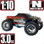 Volcano S30 1/10 Scale Nitro 4x4 Monster Truck- Red