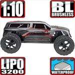 Blackout XTE Pro 4x4 Brushless Monster Truck Silver SUV