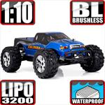 Blackout XTE Pro 4x4 Brushless Monster Truck Blue Truck