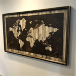 30x50 Rustic White World Map