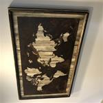 24x36 Rustic White World Map