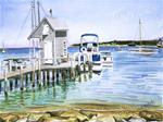 E. Vineyard Harbor Limited Edition Signed Giclee Print