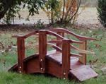 3 ft to 8 ft Asian Style Garden Bridges with curved rails