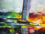 "Giclee Print ""BMW Oracle Racing US 17 - AC33 2010"""
