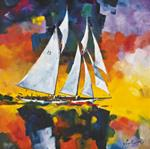 "Giclee Print ""Adventuress Under Full Sail"""