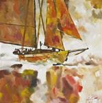 "Giclee Print ""Adventuress Downwind"""