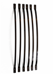 Archer. Curved Steel Black 5/8 Inch Square, baluster