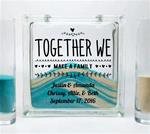 Blended Family Unity Sand Ceremony Set - Together We Make a Family with Children's Names