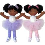 "#A5795/F603490 18"" African American Ballerina Doll"
