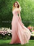 Misty Pink Madelyn Chiffon Full Length Dress - Size 12