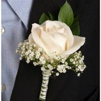 Single Rose Boutonnière
