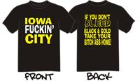 Iowa - Black Short Sleeve