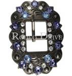 Lt Sapphire, Clear, Lilac Buckle