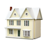 1/2 Inch Scale Country Farmhouse Dollhouse Kit