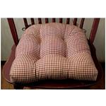 "Burgundy Check Chairpad (15x15"")"
