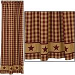 "Cranberry Country Star Shower Curtain (72x72"")"