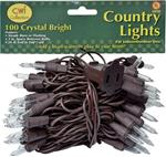 100 COUNT BROWN CORD LIGHT SET