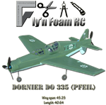 The DO 335 Pfeil (Arrow) Tiled PDF plans