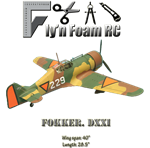 The Fokker DXXI Tiled PDF Plans