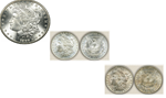 1889-1899-1902 Set of Three New Orleans Mint Morgan Silver Dollars
