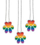 Rainbow Paw-Print Shaped Dog Tag Necklace